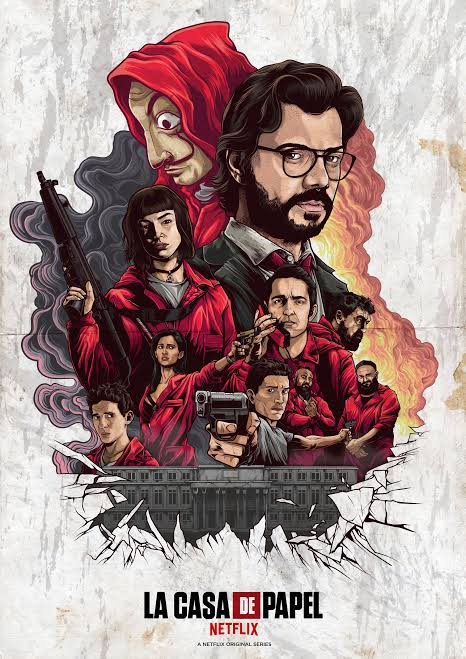 Money Heist 2018 S02 Complete Hindi NF Series 900MB HEVC HDRip 480p Download